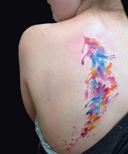 unique Watercolor tattoo - Abstract Watercolor Tattoos - Inked Magazine