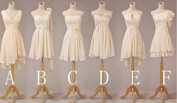 short bridesmaid dress styles