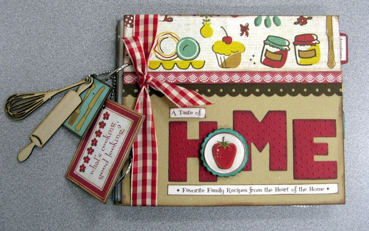 scrapbook recipe album | ... in the kitchen but i do love to make recipe scrapbooks join me next