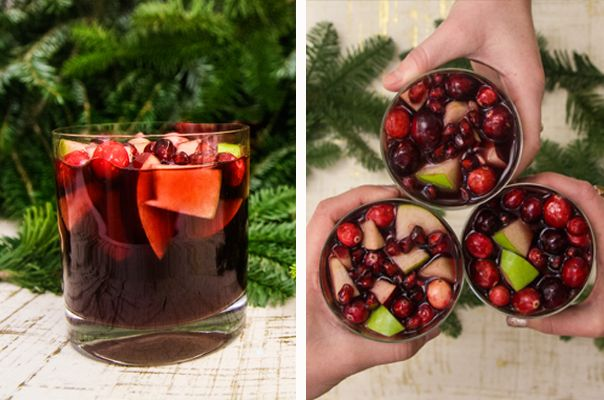 Serve this festive, fruit-packed sweet-and-spicy sangria at any holiday party. Tis' the season!