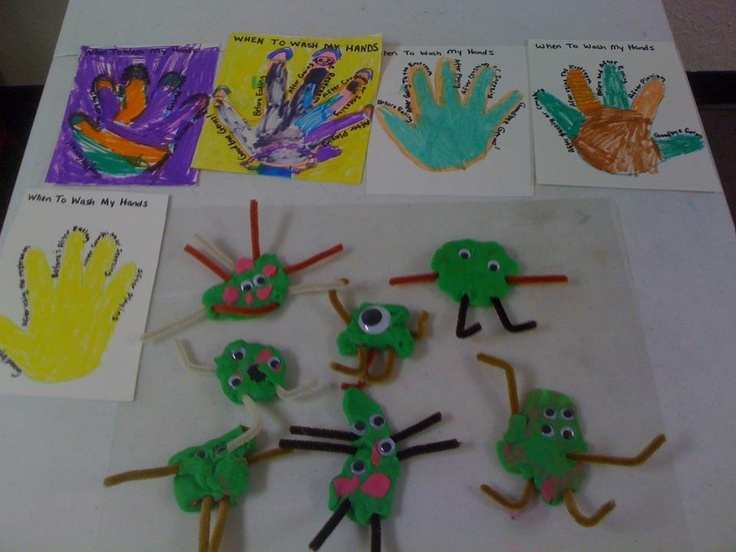 During Hygiene week my class had a blast making Germs out of playdough, googly eyes and pipe cleaners.