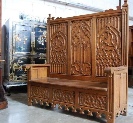 French Gothic bench, Gothic carvings www.thegatz.com · Gothic  FurnitureAntique ... - Best 73 Gothic Furniture Images On Pinterest Gothic Furniture