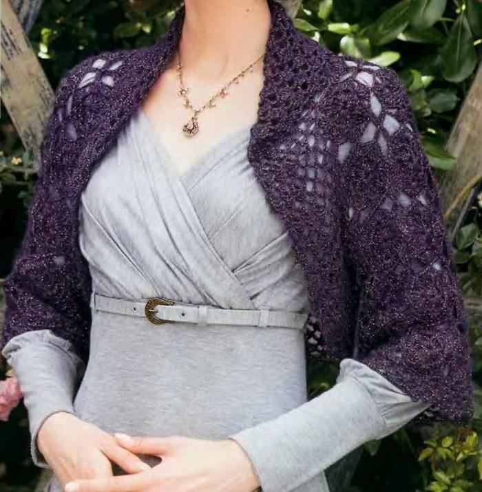 Crochet Sweater: Shrug Sweater - Crochet Shrug Pattern