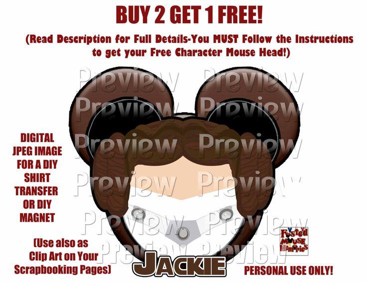 Leia  Mouse Head Mickey Ears Printable Shirt Transfer or Magnet DIY Star Wars Shirt Star Wars Door Magnet Star Wars Mickey Ears Clip Art by FrostedMouseMemories on Etsy