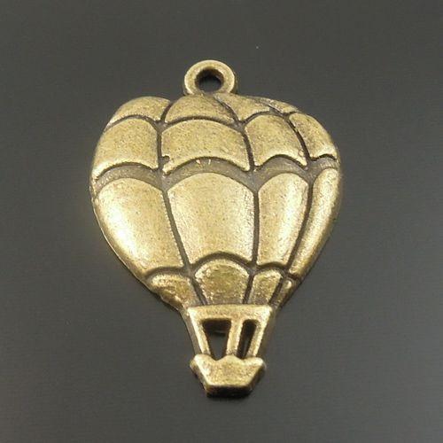 Antiqued Bronze Tone Fire Balloon Shaped Alloy Pendants Unbranded/Generic 40pcs