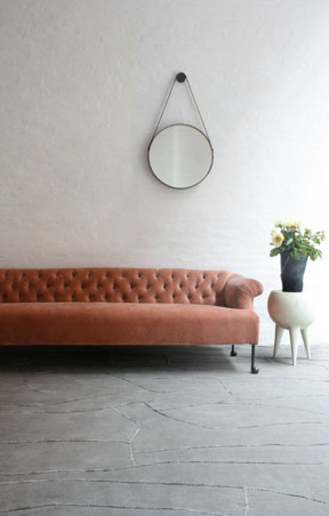 Edmund Sofa, Handmade in Philadelphia using old world traditions like mortise and tenon joinery, 8 way hand tied springs and natural horsehair / cotton fill. Much of the stitching is done by hand as well. The legs are blackened cast bronze. - BDDW (designer, Tyler Hays)
