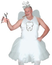 Funny Adult Mens Tooth Fairy Tutu Halloween Fancy Dress Costume