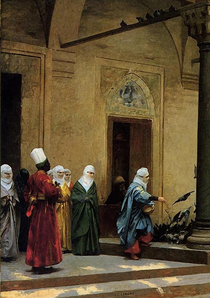 Osmanli hareminden bir tablo