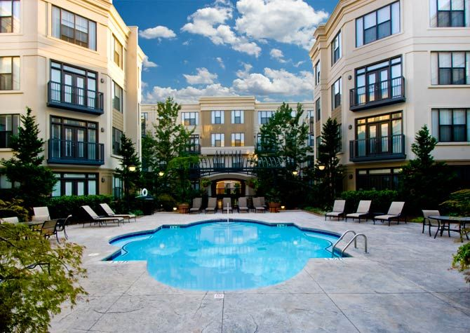 Landscaped Courtyard  Courtyards  Place Include  Uptown Place  Charlotte  Luxury Apartments  Ornate Fountain  Fountain Waterfall  Exquisitely  Landscaped. 17 Best images about Charlotte Luxury Apartments on Pinterest