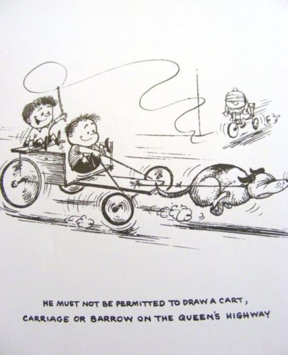 and then there's Thelwell's version of dog scootering/urban mushing......Norman Thelwell   eBay..............