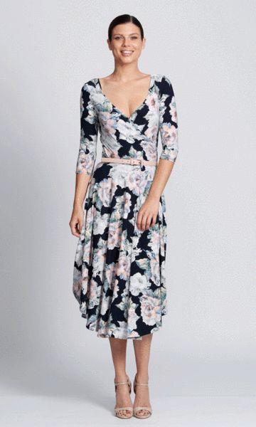 Stella wrap dress in romance