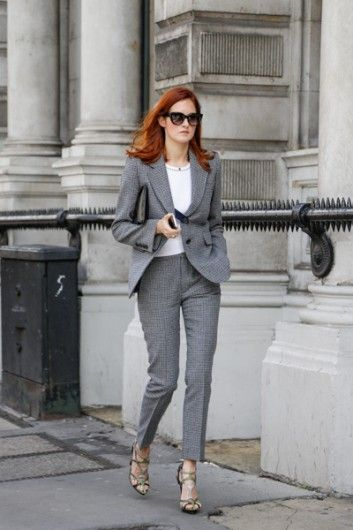 Taylor Tomasi Hill in the perfect grey suit