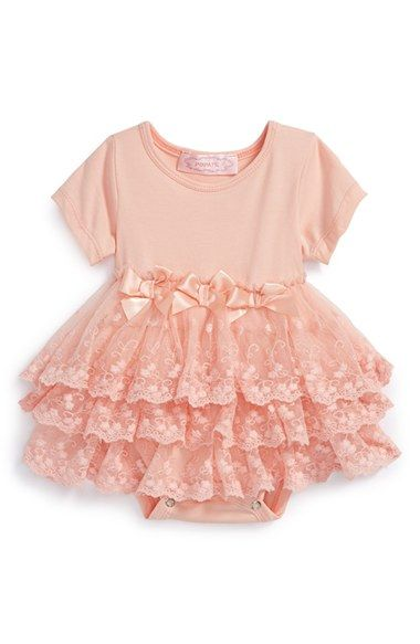 Popatu+Tiered+Lace+Bodysuit+(Baby+Girls)+available+at+#Nordstrom