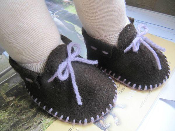 tuto en français pour ces chaussures en feutrine