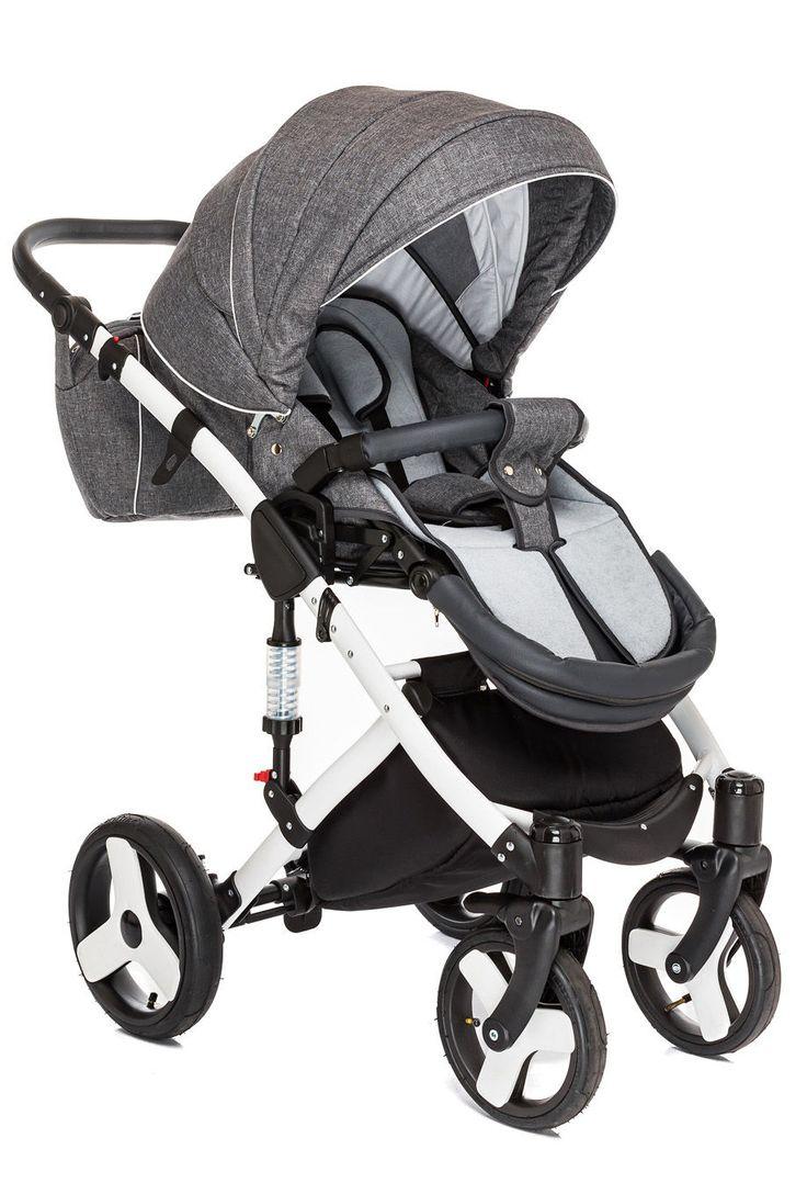 Sie müssen kein Angst haben, dass die Strahlung UV50+ Ihrem Kind Leid tun. Unsere #Kinderwagen 2in1 ALFA SILVER hat Textilien, die in der Lage sind, bis zu 50%  der schädlichen Strahlung UV50+ zu absorbieren.   #Kinderbuggy #Tragetasche #Gondel #Buggy #Stellage #Insektenschutz