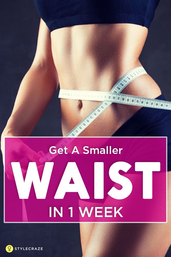 how to get a smaller stomach in a week