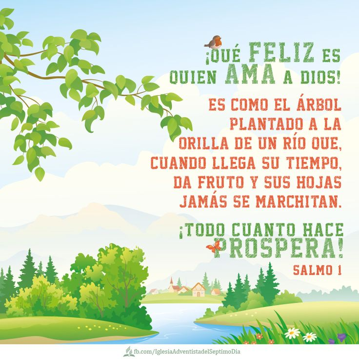 Happy is the one who loves God. It is like a tree planted by the side of a river that when time arrives it bears fruits and leaves and they never wither. He makes all prosper! Psalms 1 Bible│Versículos - #Versiculos - #Bible - #Dios