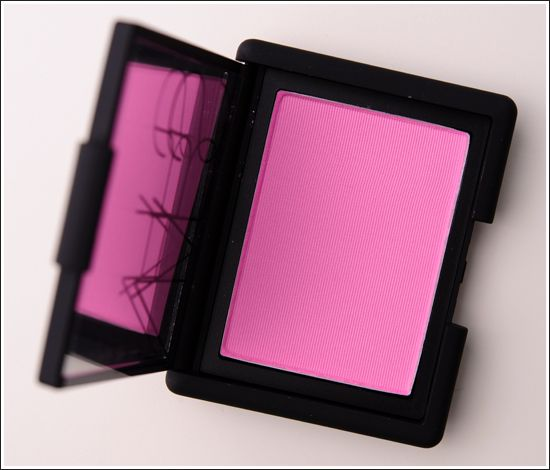NARS Gaiety blush. This is a cool-toned, matte pink. It looks great on my fair, cool-toned skin.