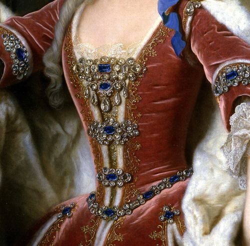 """Portrait of Elisabeth Farnese, Princess of Parma and Queen of Spain"" (1732) (detail) by Jean Ranc (1674-1735)."