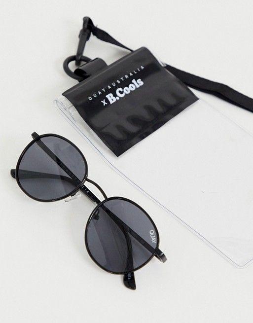 f7dbfb71e Quay Australia Omen round sunglasses in black in 2019 ...