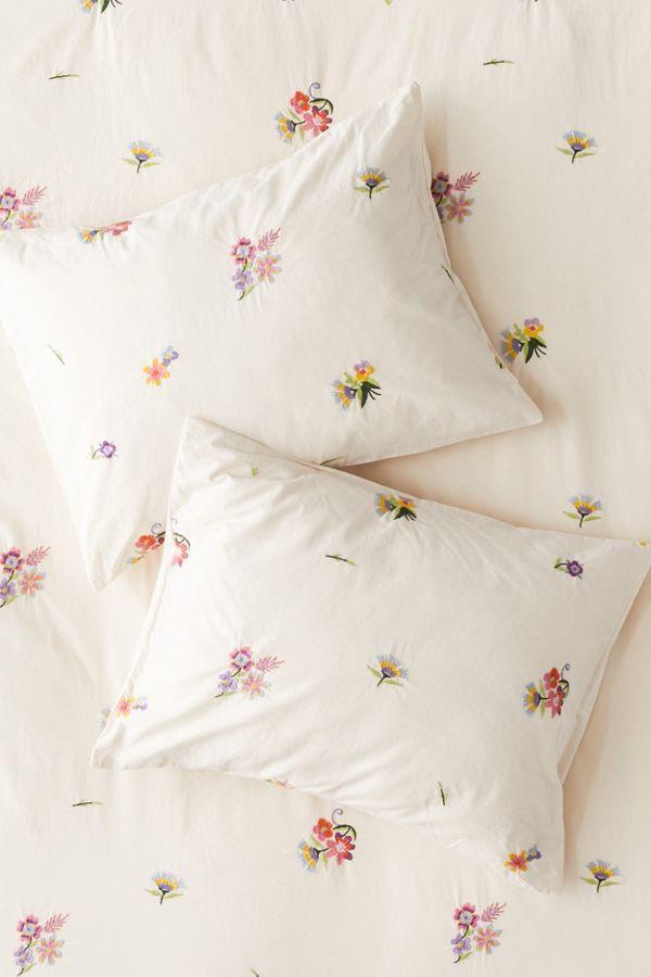 Georgine Embroidered Floral Sham Set Floral Duvet Cover Duvet Covers Urban Outfitters Floral Duvet