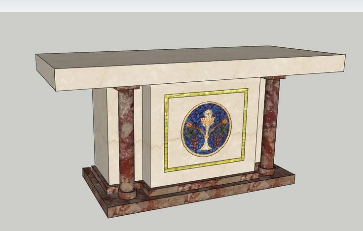 Altars design in marble and mosaic