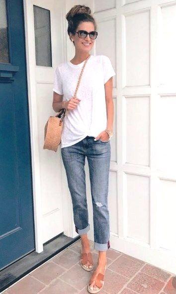36 Summer Fashion Chic Boyfriend Jeans 1