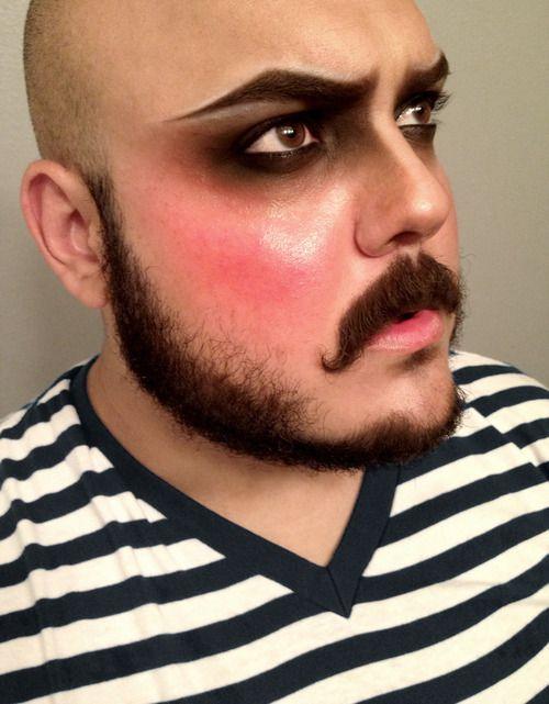 Les 25 meilleures id es de la cat gorie maquillage halloween homme avec barbe sur pinterest - Maquillage halloween homme barbe ...