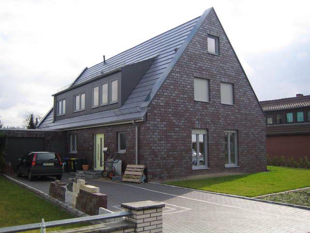 Klinker graue fenster haus pinterest for Haus klinker modern