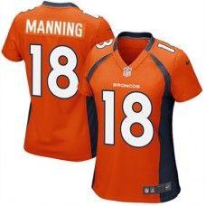Nike Elite Womens Denver Broncos http://#18 Peyton Manning Team Color Orange NFL Jersey$109.99