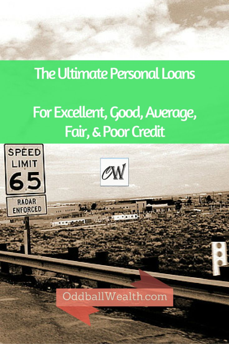 The Best Personal Loans and Lending Rates for Excellent, Good, Average, Fair, and Poor Credit Types. A detailed overview of each lender, their rates, terms, and loan options.  You can get the full scoop by reading the article here - http://oddballwealth.com/get-the-best-personal-loan-rates-online-for-all-credit-types/ #credit #financing #loans #PersonalLoans #finance #money #lending #banking