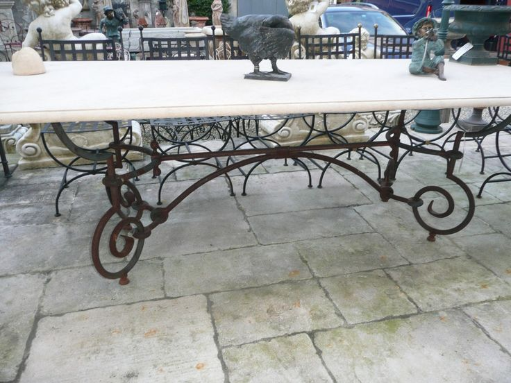 Decorative Wrought Iron Table Legs | Wrought Iron Table Legs Only