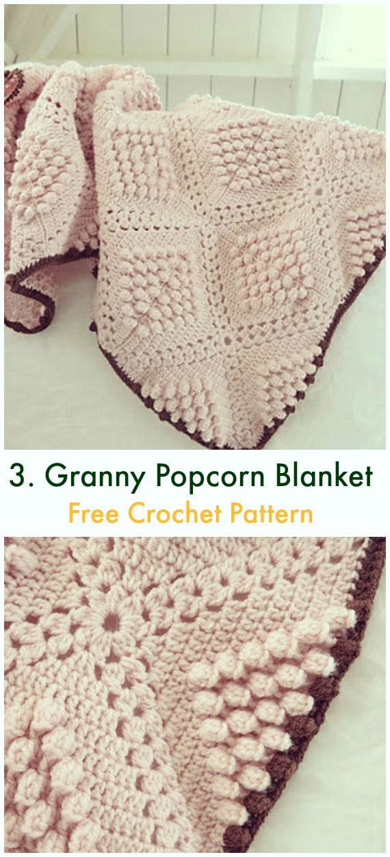 Bobble & Popcorn Blanket Free Crochet Patterns | The Yarn Barn ...