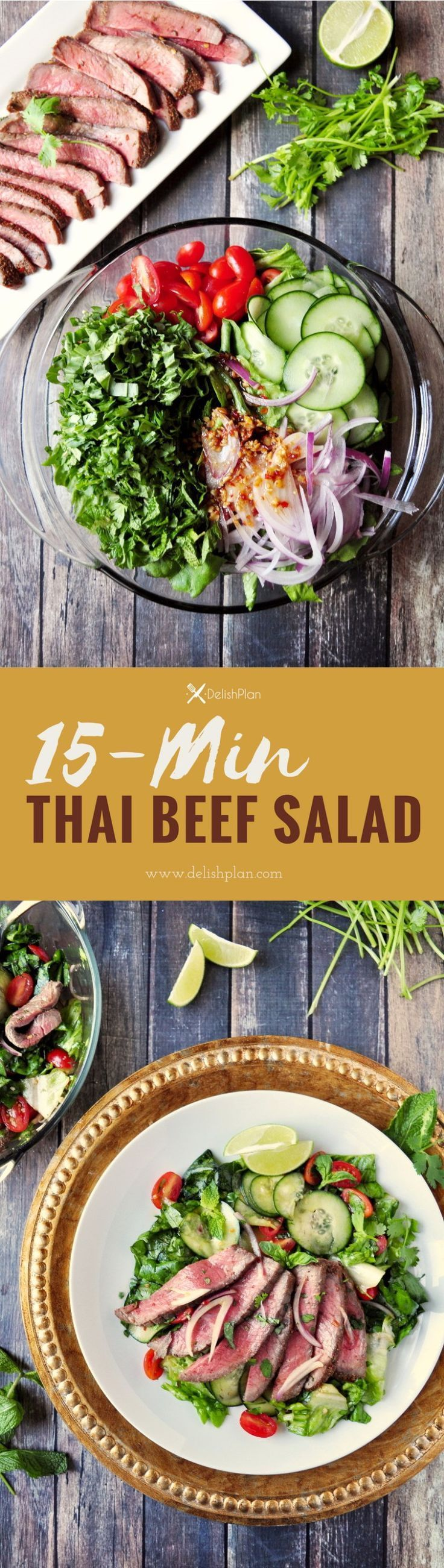 Got leftover roast? Make this Thai beef salad in just 15 minutes. #onedishmeal #lowcarb #paleo