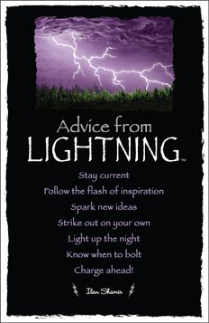 Book of Shadows:  #Advice from #Lightning.