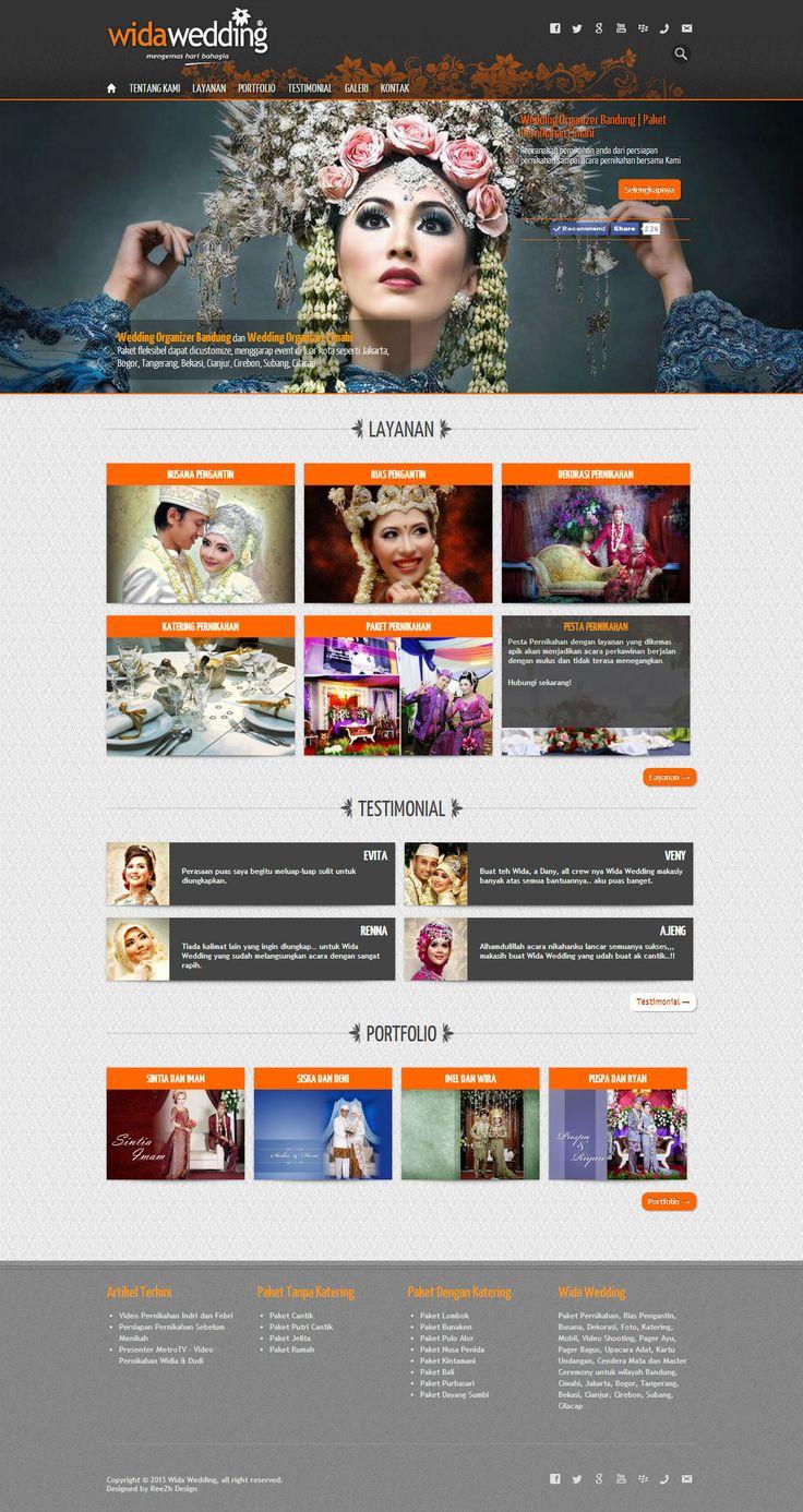 Web Design Bandung Portfolio - Wida Wedding
