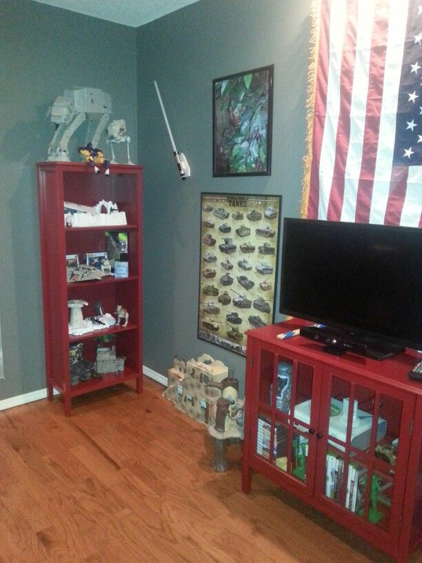 Boys room military army men theme american flag kids for Army themed bedroom ideas