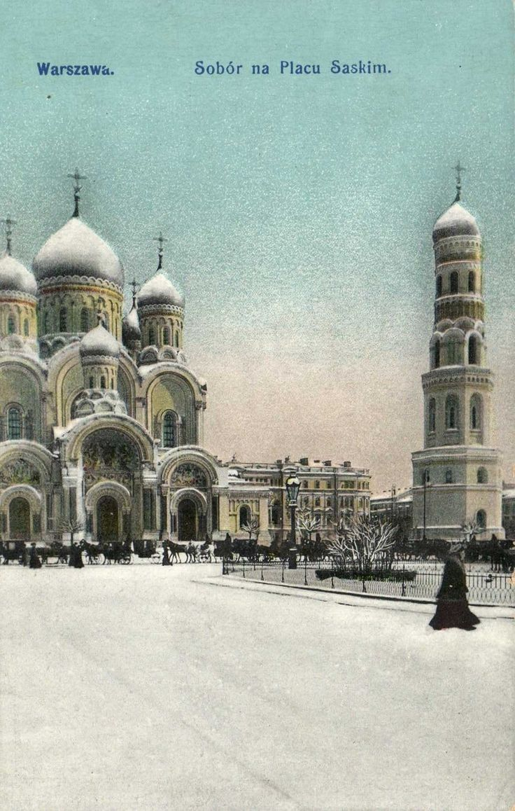 Orthodox Church in the Saski Square, postcard around 1912 -1914