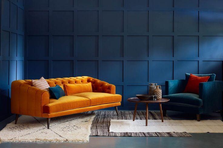 Modern Chesterfield Sofa, UK - Earl Grey