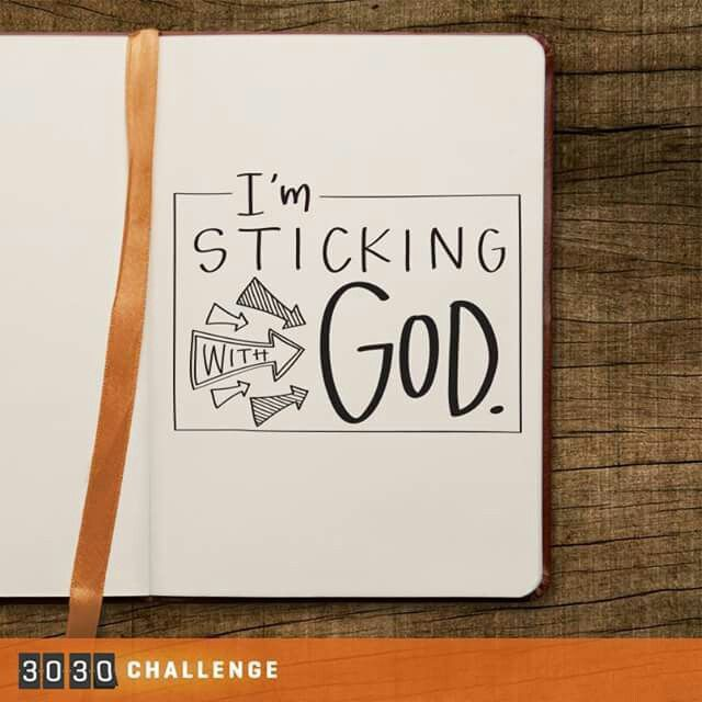 Sticking with God