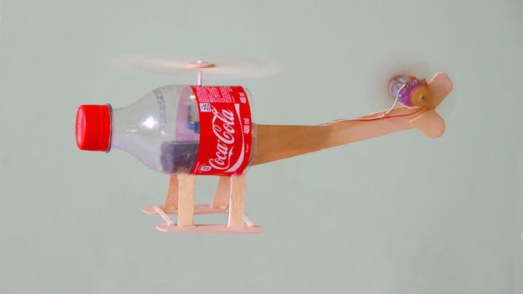 How to Make a Flying Helicopter Using Bottle │ Toy Helicopter │ Diy Proj...