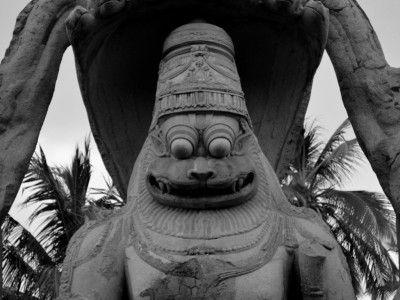 The majestic Yoga Narasimha, Hampi, Karnataka, India #india #kamalan #travel #culture #photo