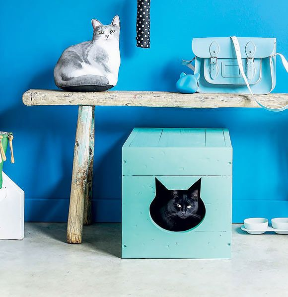 Pet Friendly Flooring Options For Cat And Dog Owners: Cute & Colorful DIY Cat Box