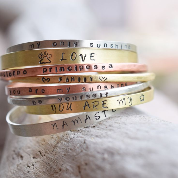 rainbow of colors with these personalized bracelets!
