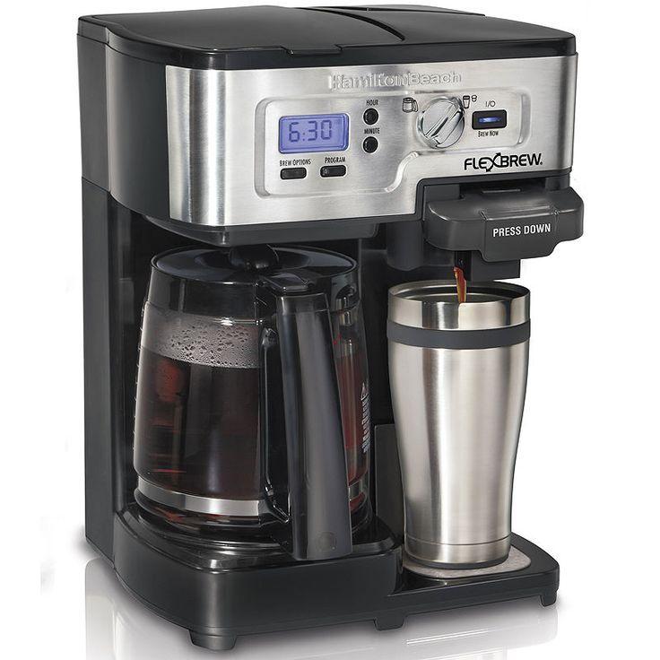 Hamilton Beach 2Way FlexBrew Programmable Coffee Maker in