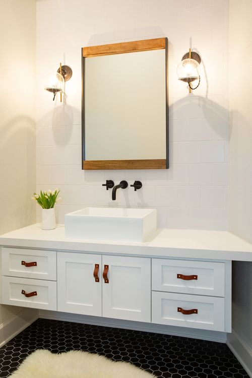 17 Best Images About Bathrooms On Pinterest Powder Room Design Tiled Floors And Patterned Wall