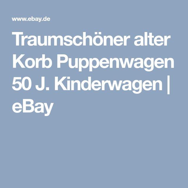 Traumschöner alter Korb Puppenwagen 50 J. Kinderwagen   eBay