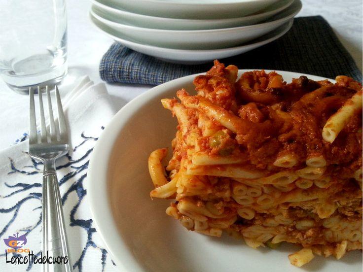 pasta al forno alla siciliana, pasta al forno, le ricette del cuore, ragù, ricette tipiche siciliane, primo, facile, ricetta