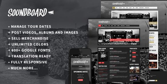 Themeforest – WordPress: Soundboard – a Premium Responsive Music WordPress Theme on Themeforest Free Download http://themeforestfreedownload.com