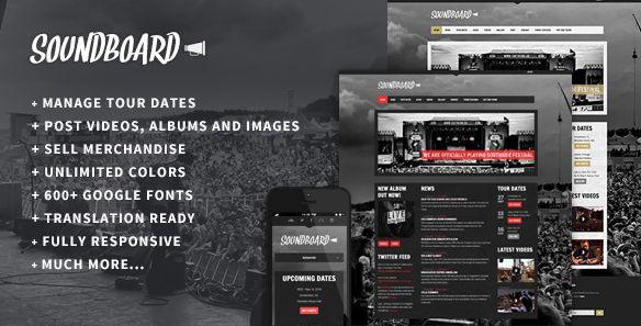 Themeforest – WordPress: Soundboard – a Premium Responsive Music WordPress Theme on Themeforest Free Download http://themeforestfreedownload.com